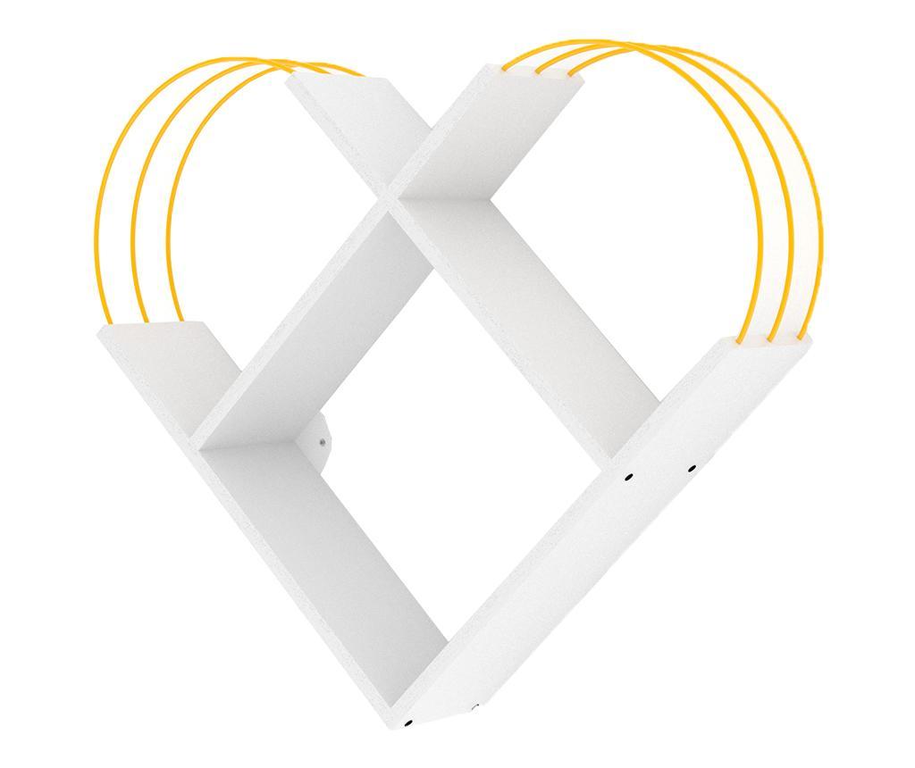 Raft de perete Case White Yellow