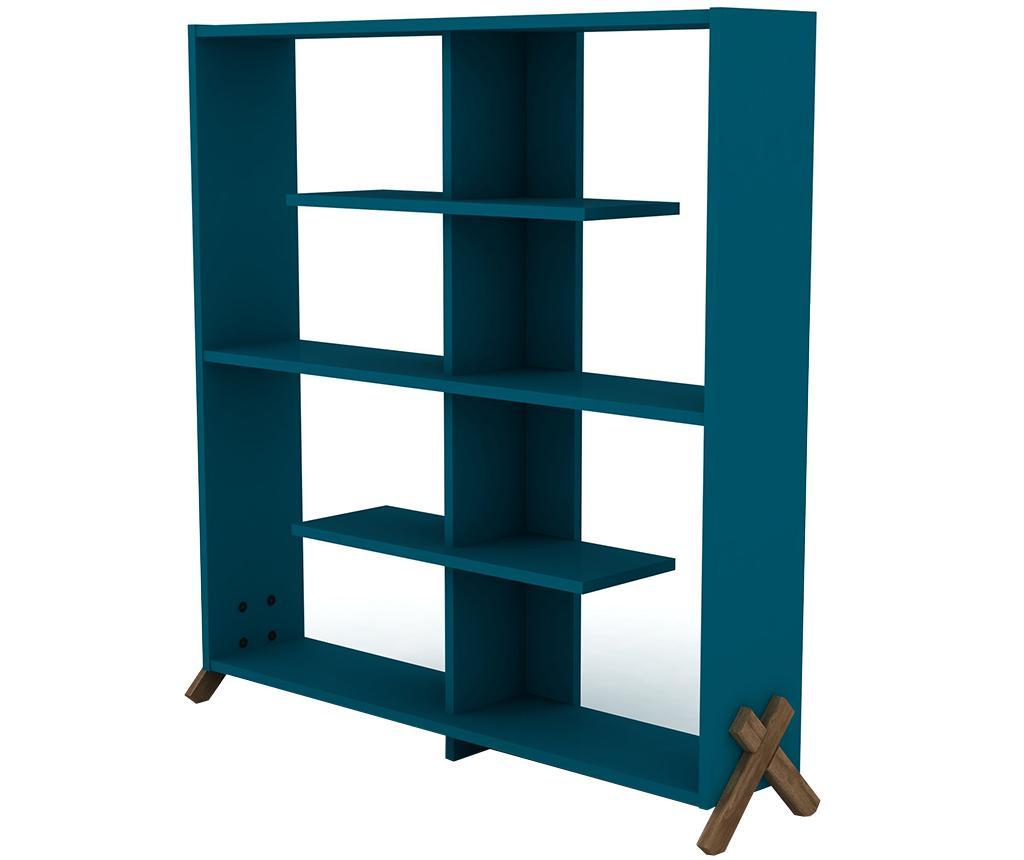 Biblioteca Kipp Walnut Blue