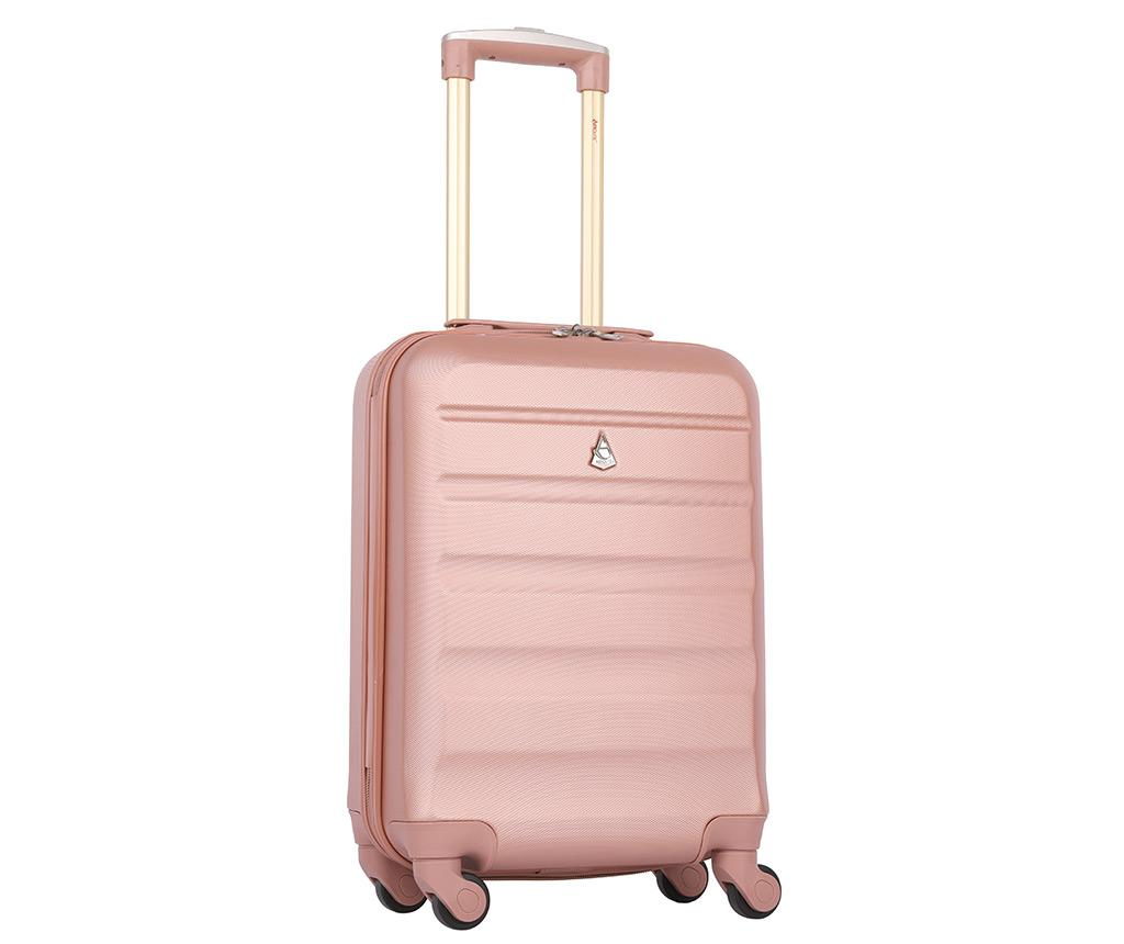 Troler Aerolite Adelaide Rose Gold 35 L imagine