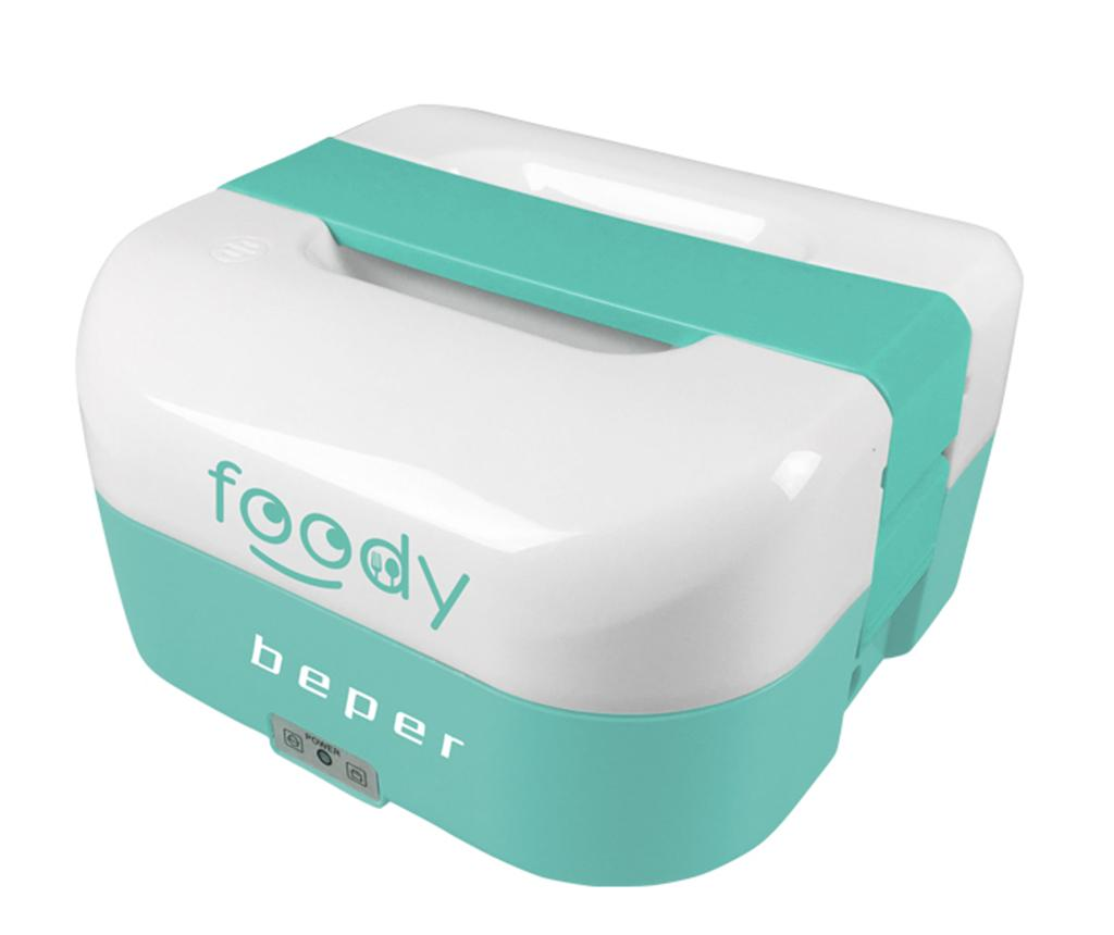 Cutie electrica pentru pranz Foody Blue 1.6 L - Beper, Alb,Albastru poza