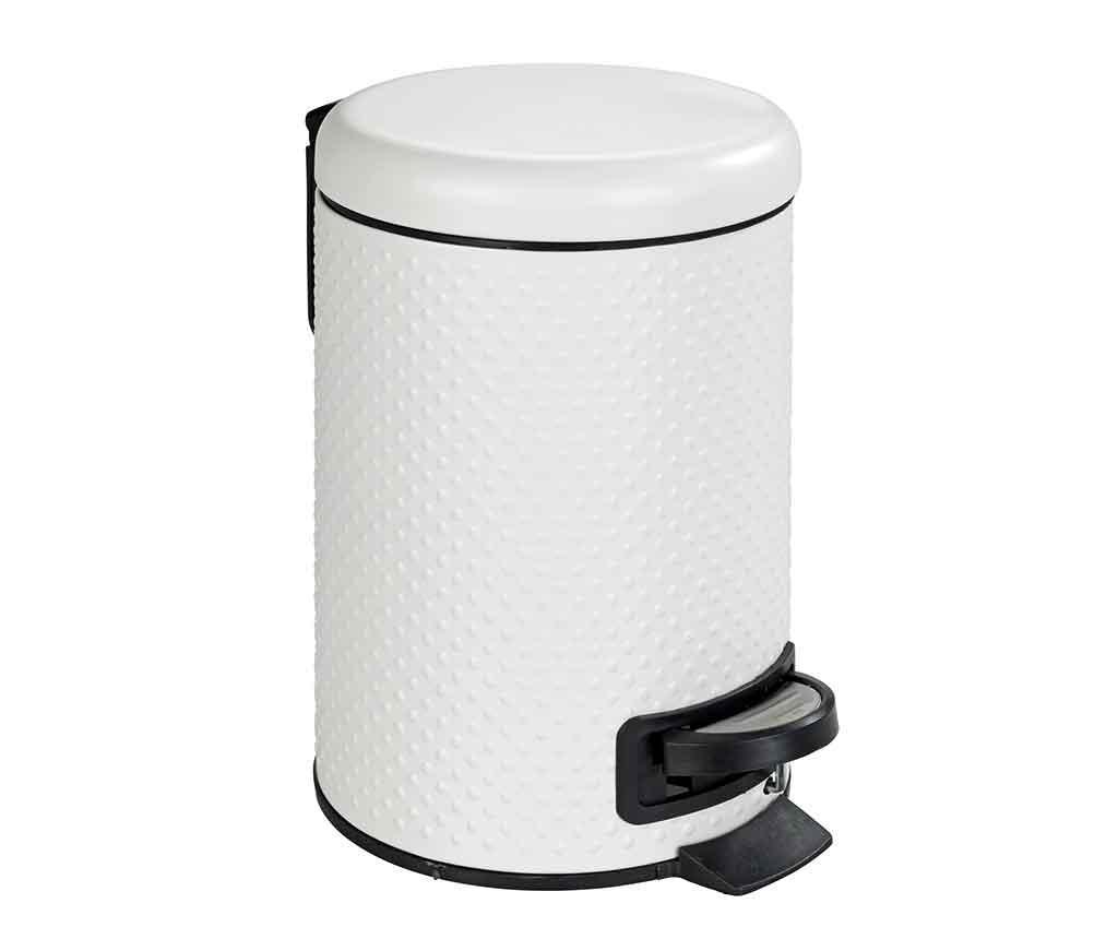Cos de gunoi cu capac si pedala Punto White 3 L - Wenko, Alb imagine