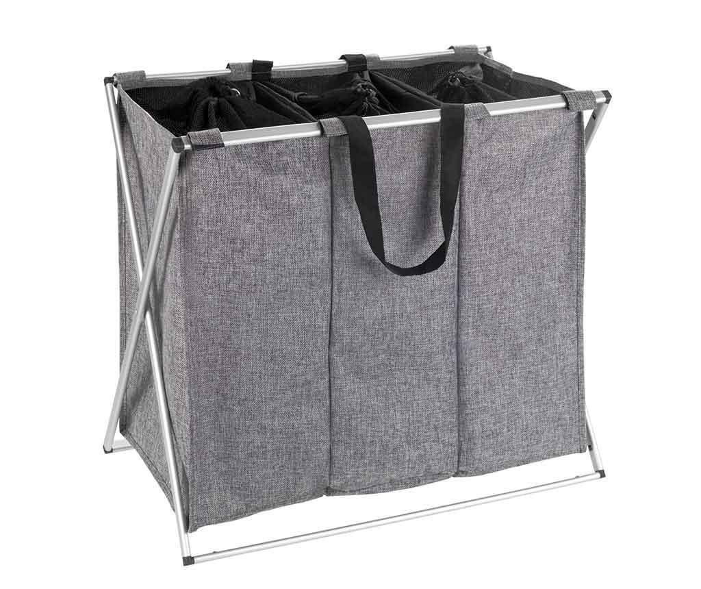 Cos pentru rufe Trio Grey 130 L
