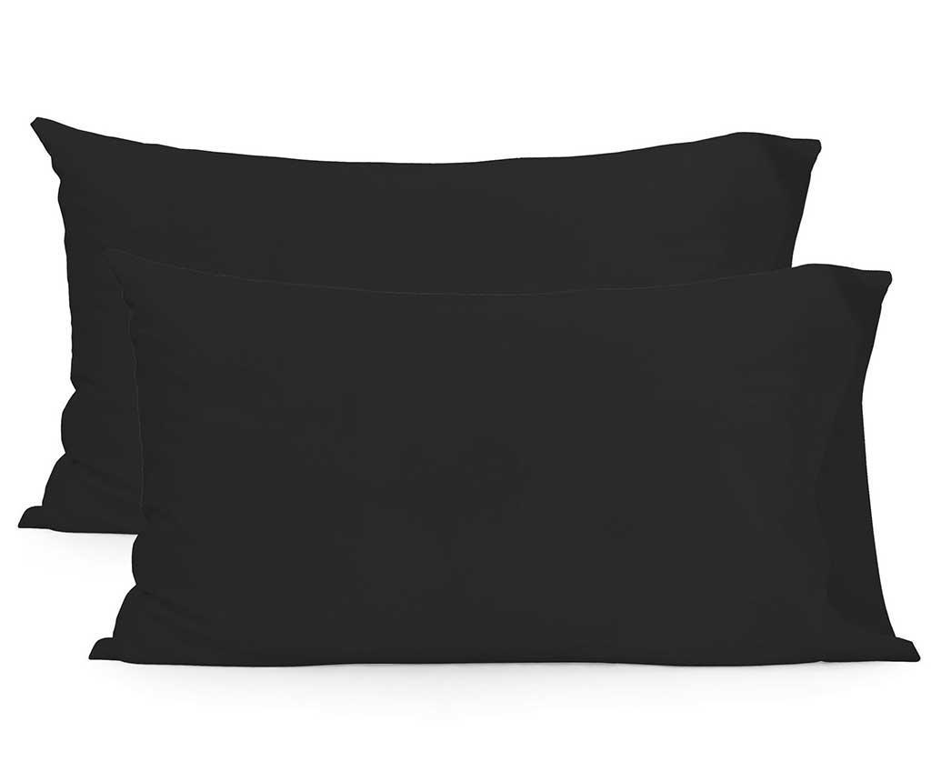 Set 2 fete de perna Basic Black 50x80 cm imagine
