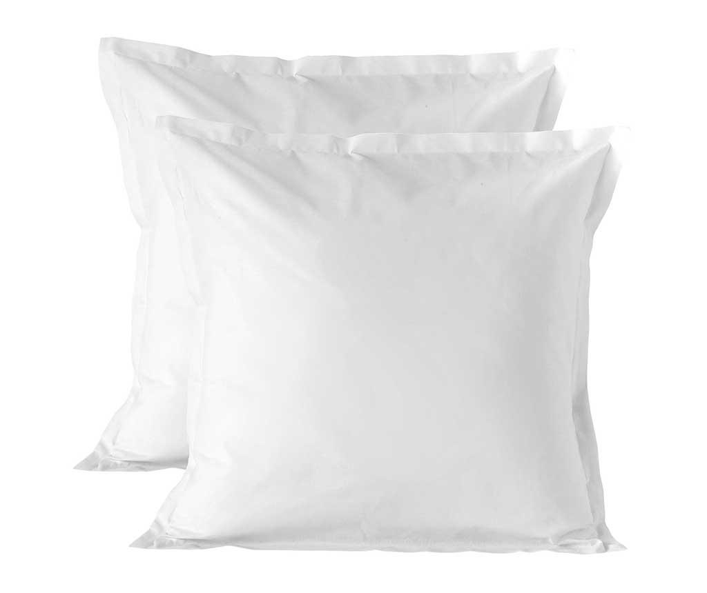 Set 2 fete de perna Basic White 60x60 cm imagine
