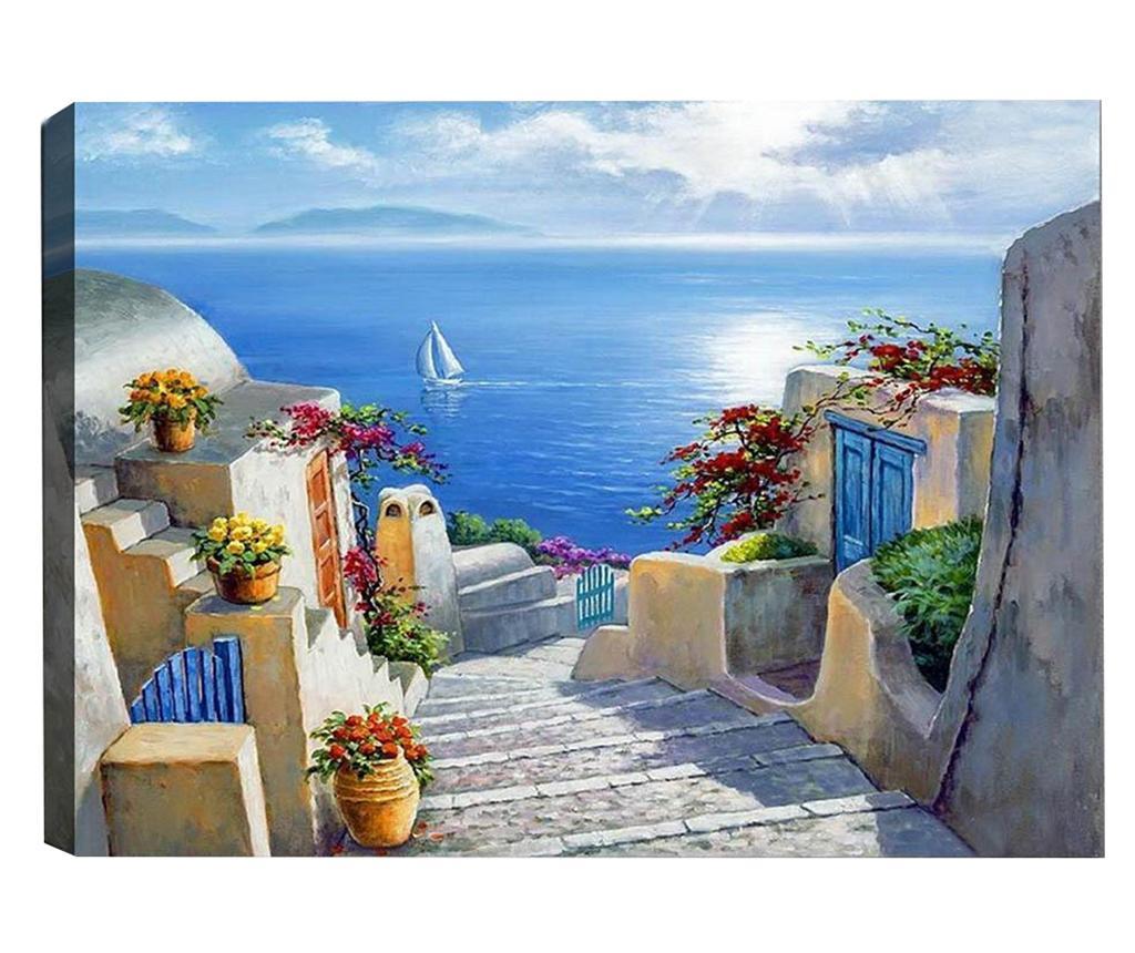Tablou Greek Paradise 50x70 cm - Tablo Center, Albastru imagine