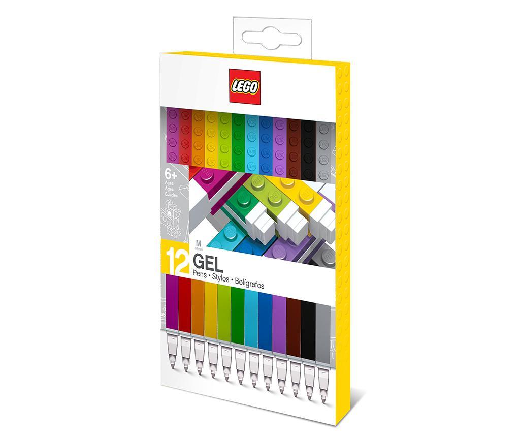 Set 12 pixuri Lego - LEGO Stationery, Multicolor