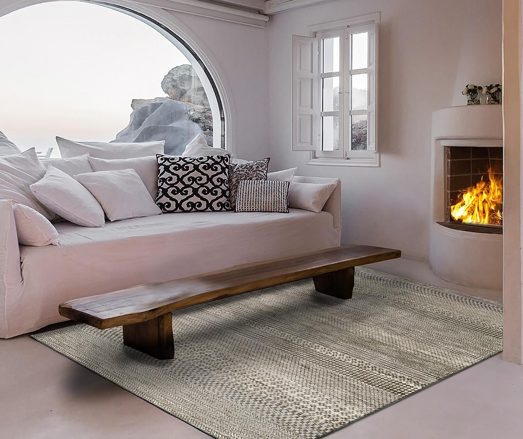 Covor Belga Style Grey 100x140 cm vivre.ro