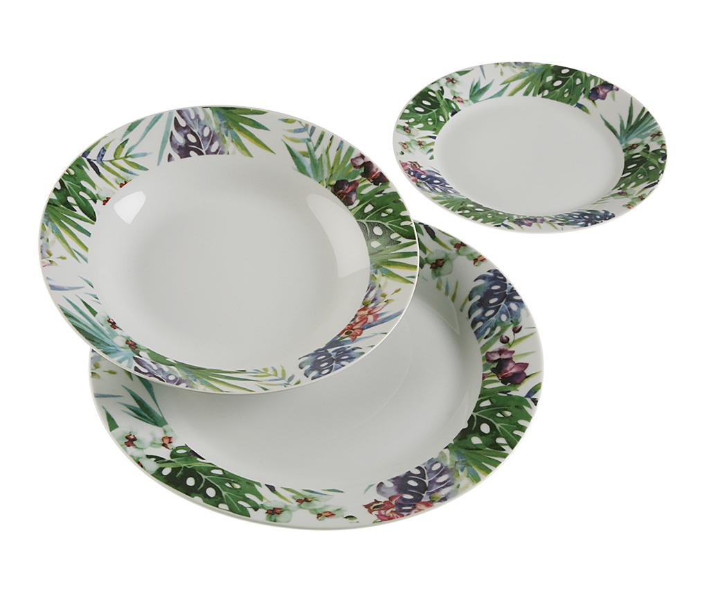 Set de masa 18 piese Tropical - Versa, Multicolor imagine