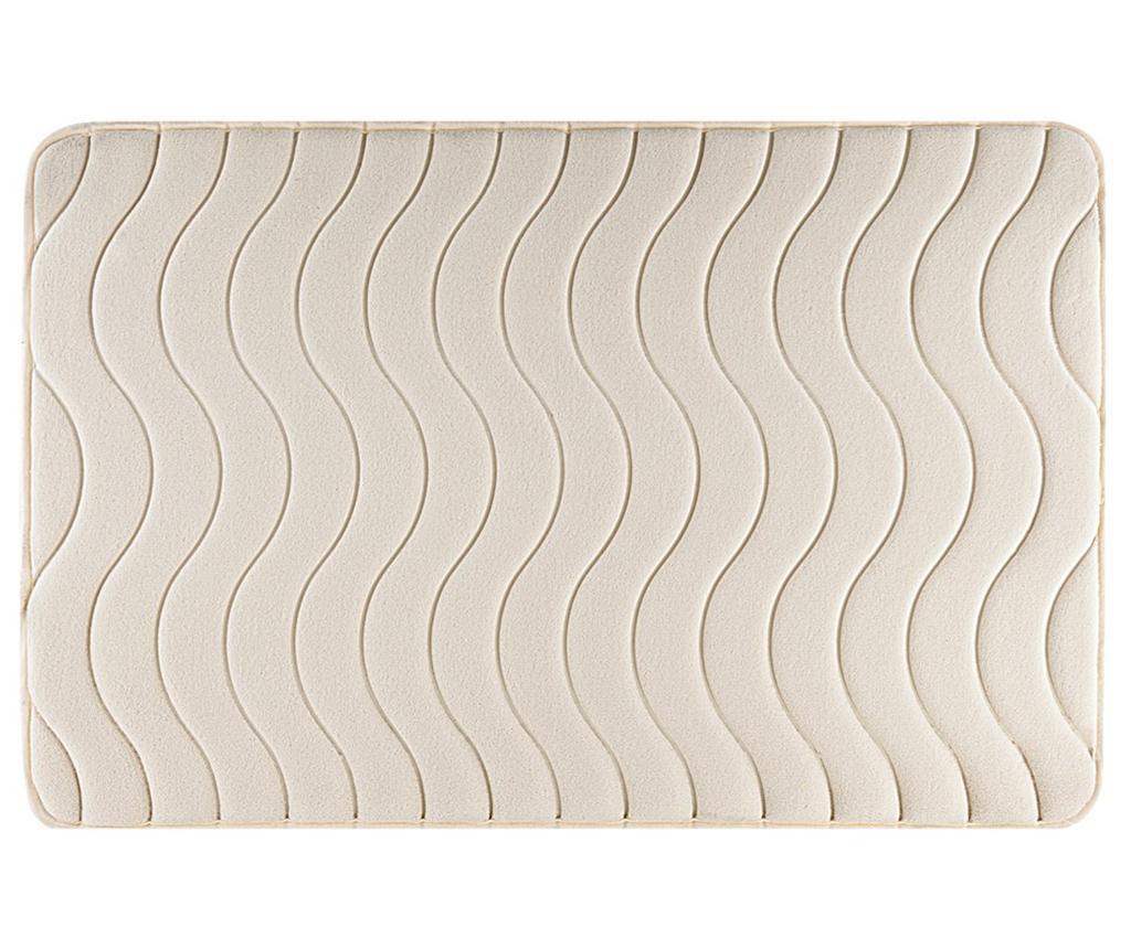 Covoras de baie Wave Cream 60x90 cm imagine