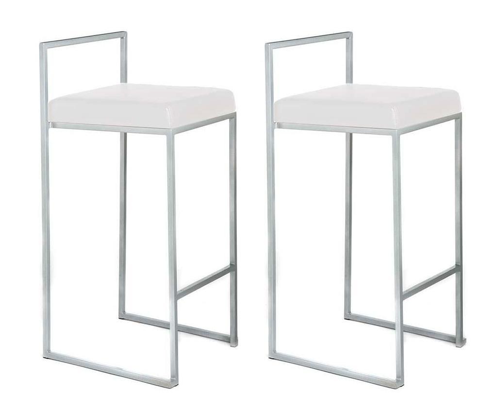 Set 2 scaune de bar Dodo White - Tomasucci, Alb imagine