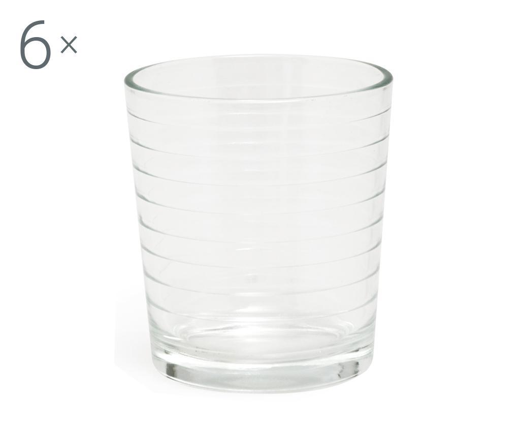 Set 6 pahare pentru apa Roma 260 ml