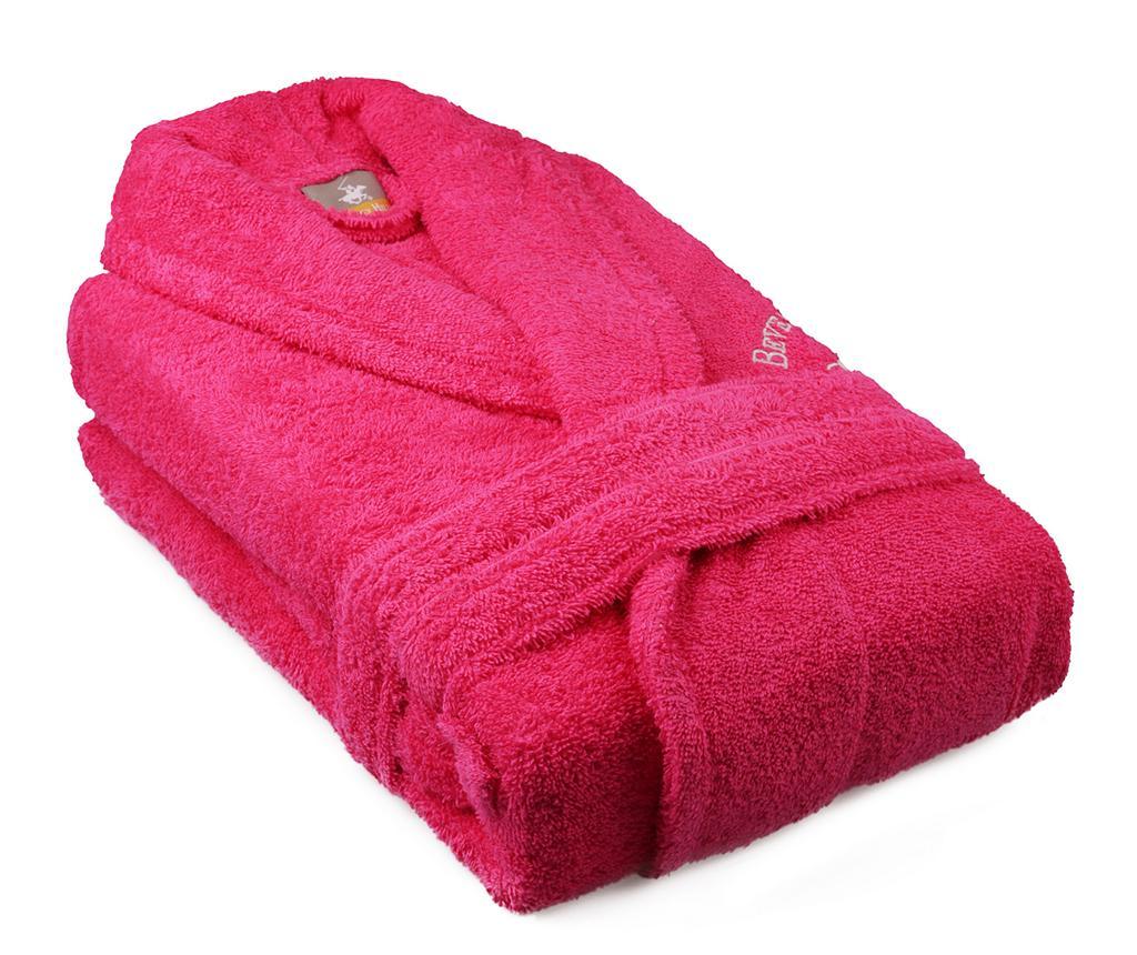 Halat de baie unisex Austen Pink S/M - Beverly Hills Polo Club, Roz poza