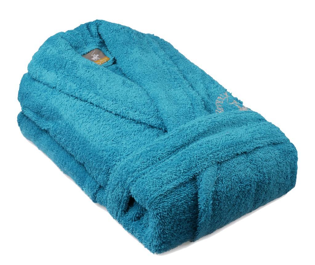 Halat de baie unisex Austen Turquoise L/XL - Beverly Hills Polo Club, Albastru vivre.ro