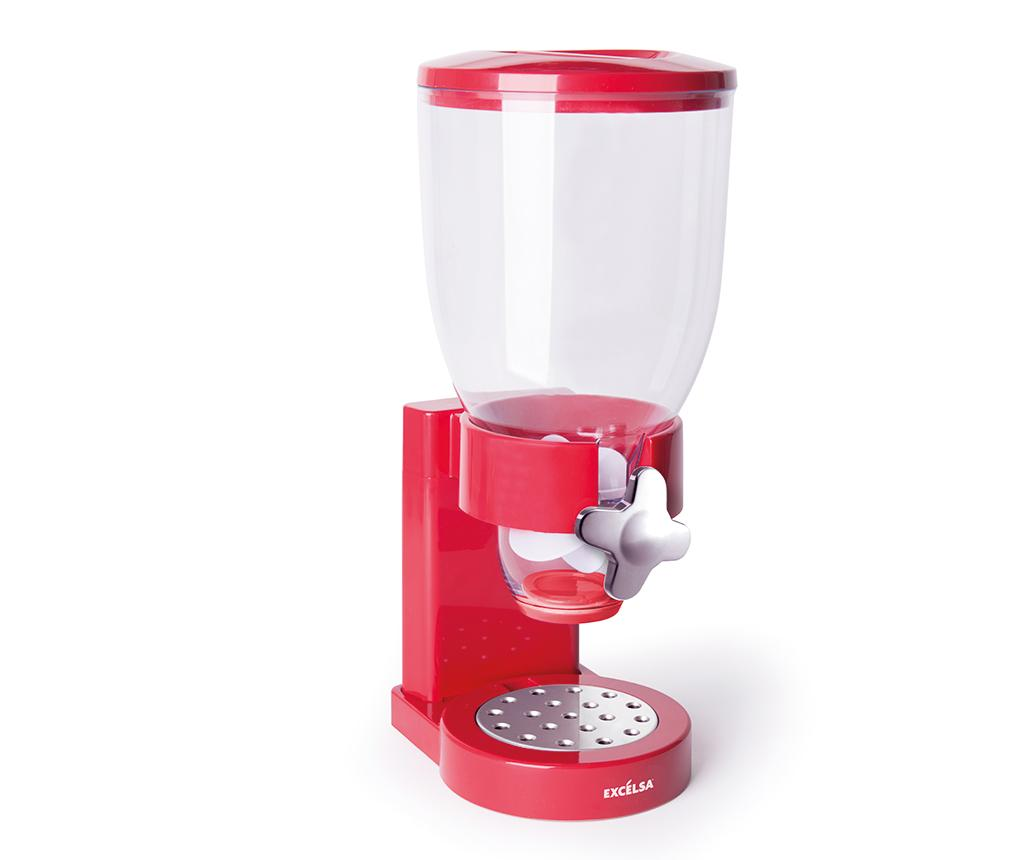 Dispenser pentru cereale Good Morning Red - Excelsa, Rosu imagine