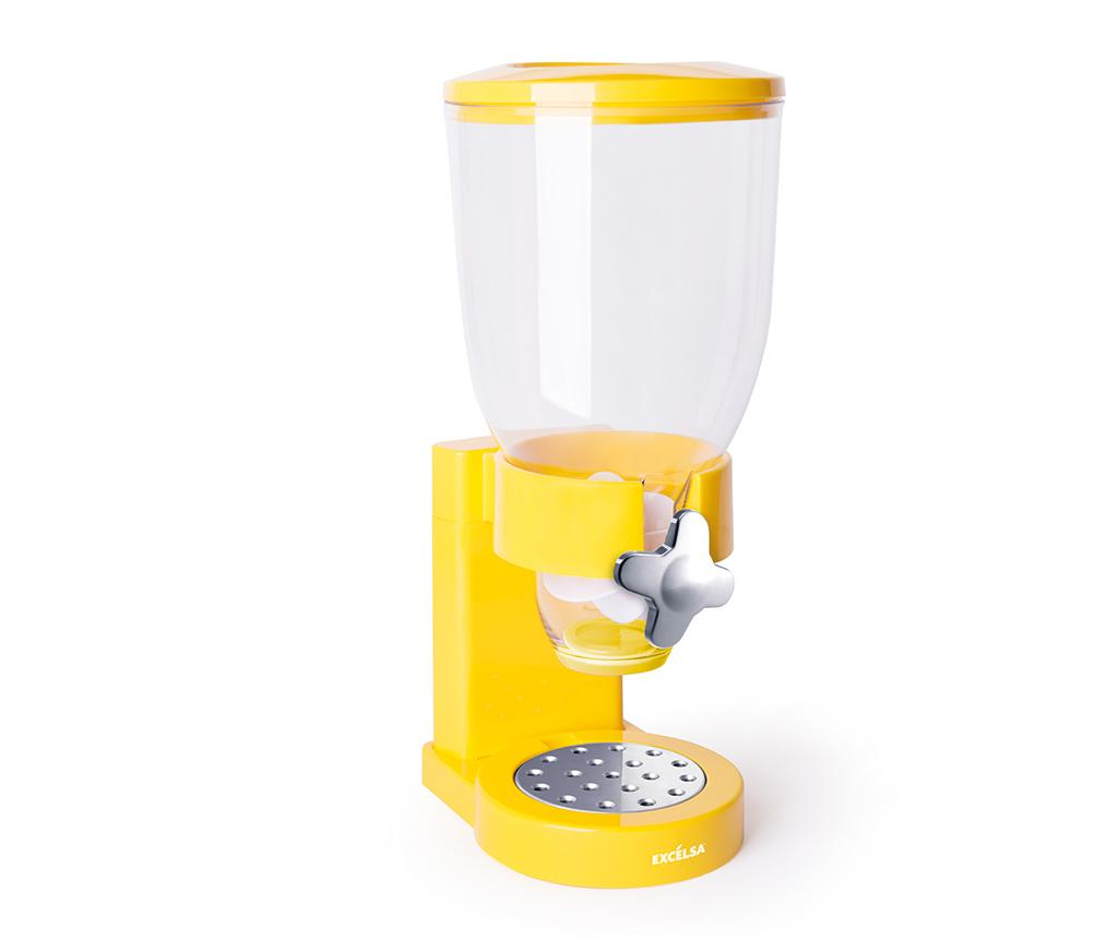 Dispenser pentru cereale Good Morning Yellow - Excelsa, Galben & Auriu imagine