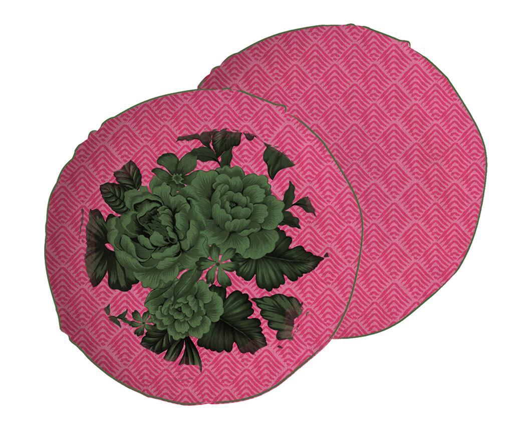 Perna decorativa Green Flowers 45 cm - Madre Selva, Roz poza