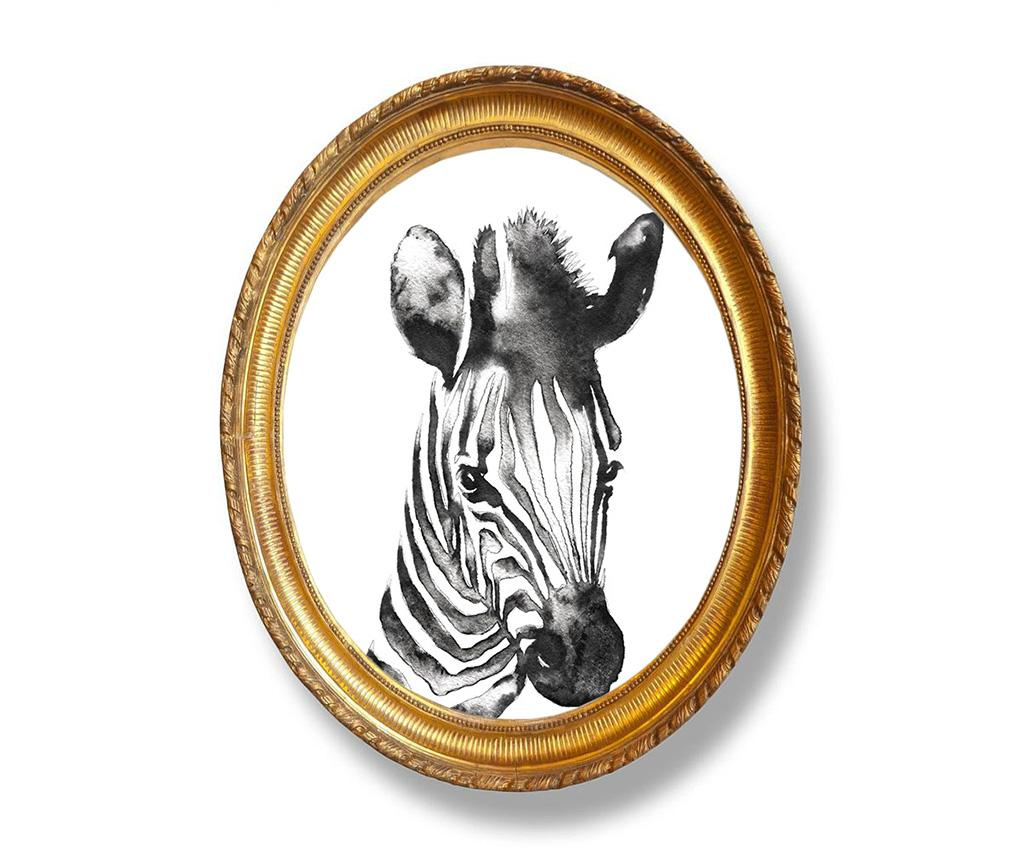 Tablou Zebra 40x50 cm - Madre Selva, Alb,Negru poza
