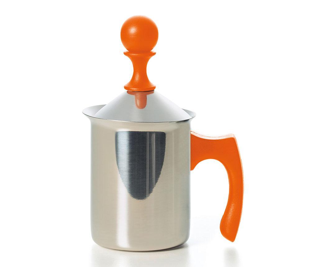 Fierbator cu capac Creamer Orange 400 ml - Excelsa, Portocaliu poza noua