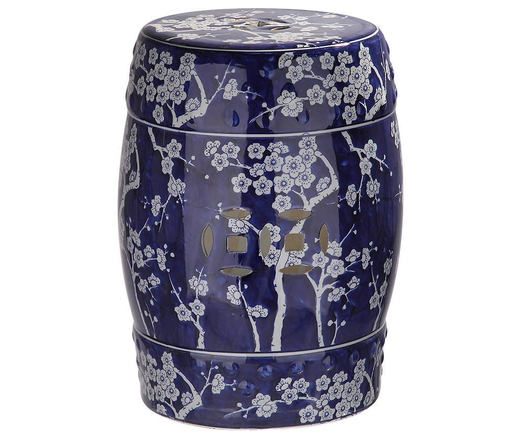 Taburet decorativ Keiko - Safavieh, Albastru imagine
