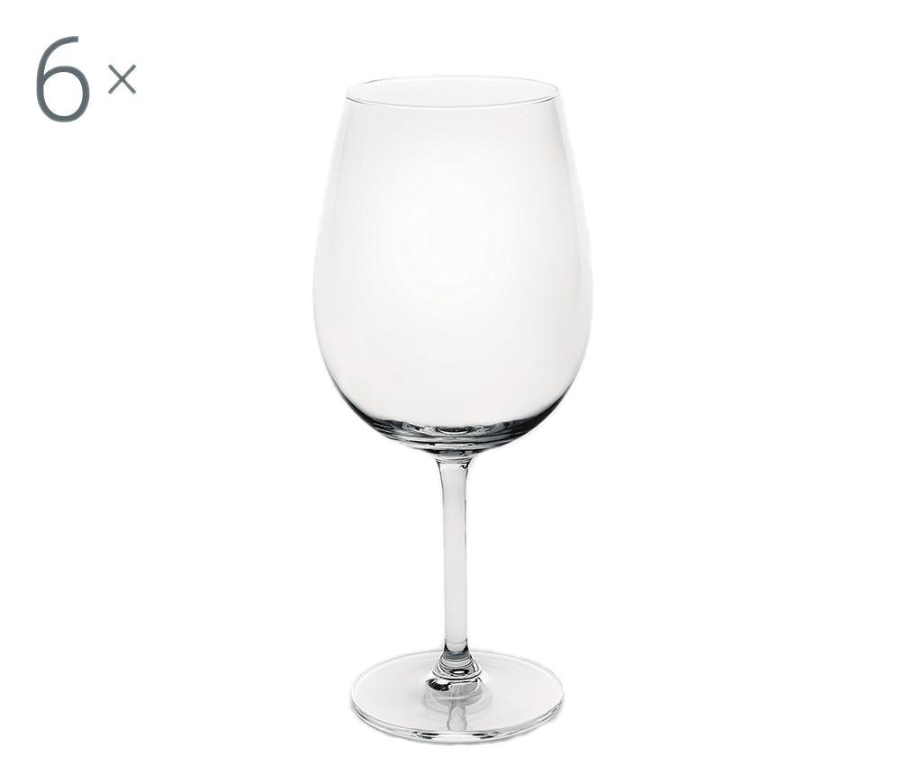 Set 6 pahare cu picior Enoteque 610 ml imagine