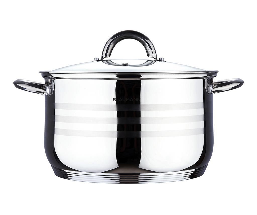 Cratita cu capac Gourmet 3.8 L - Blaumann, Gri & Argintiu