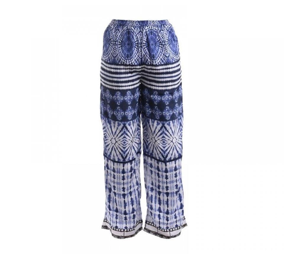 Pantaloni lungi dama Maris Black and White M - Ble, Albastru poza