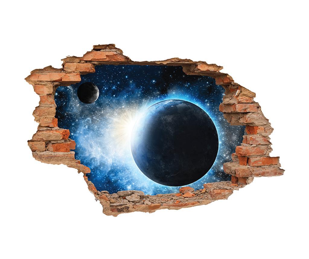 Sticker 3D Terre et Lune