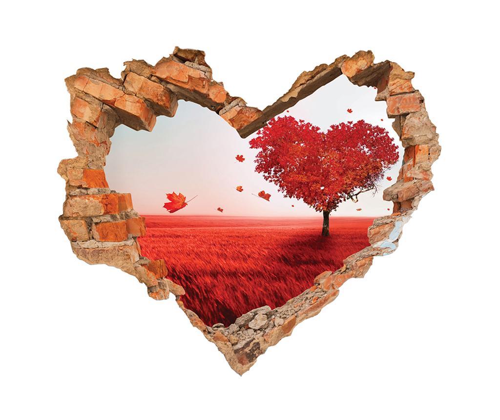 Sticker 3D Coeur Paysage