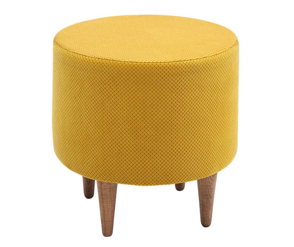 Taburet Findik Yellow - Balcab Home, Galben & Auriu imagine