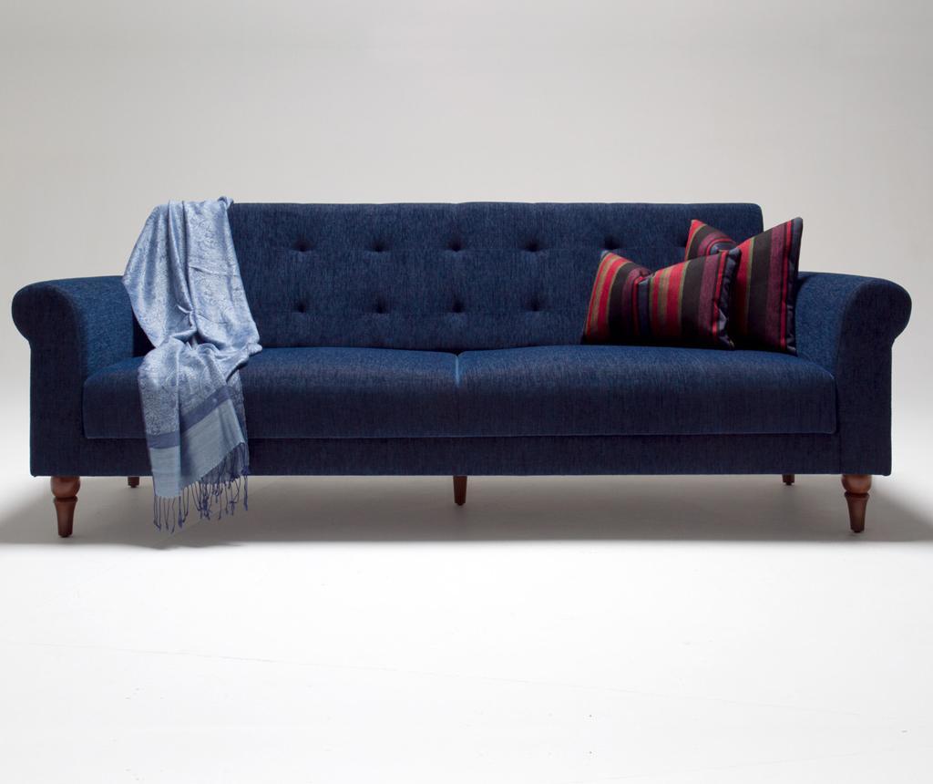 Canapea 3 locuri extensibila Madona Dark Blue vivre.ro