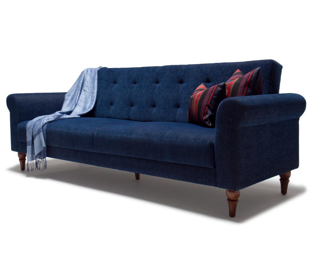 Canapea extensibila cu 3 locuri Madona Dark Blue - Balcab Home, Albastru imagine