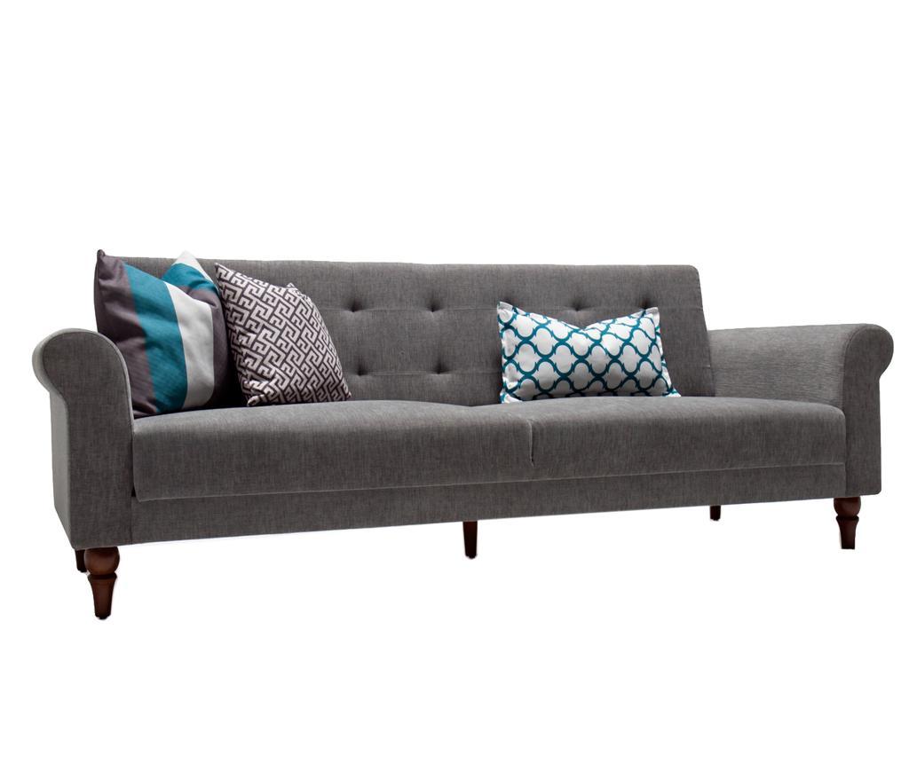 Canapea extensibila cu 3 locuri Madona Grey - Balcab Home, Gri & Argintiu imagine