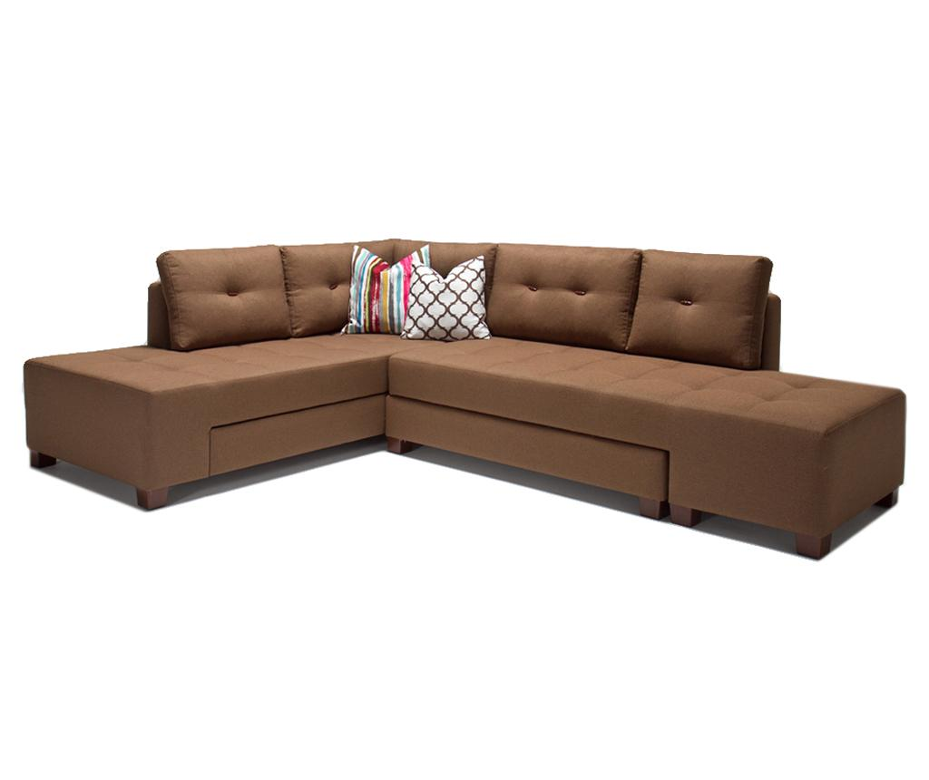 Coltar extensibil stanga Manama Brown - Balcab Home, Maro imagine