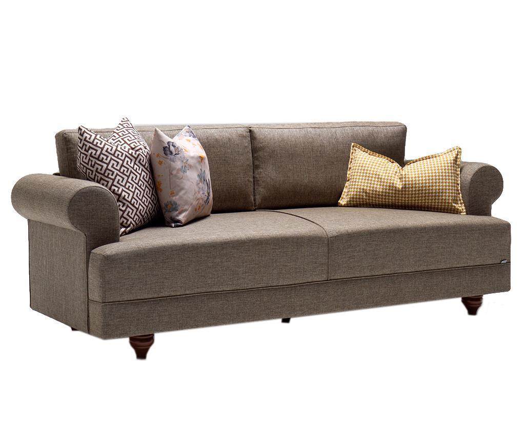 Canapea 3 locuri Samara Brown imagine