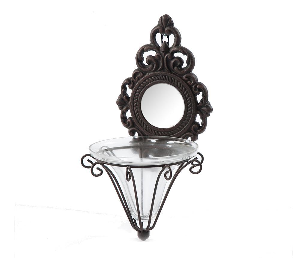 Ghiveci cu suport Mirrored - Luigi Dal Pozzo, Negru