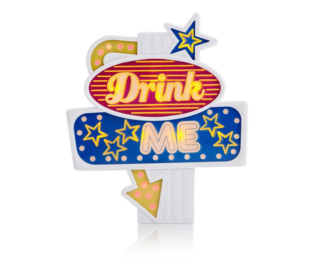 Světelná dekorace na láhev Drink Me