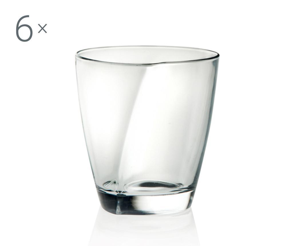 Sada 6 sklenic na whisky Happy 220 ml