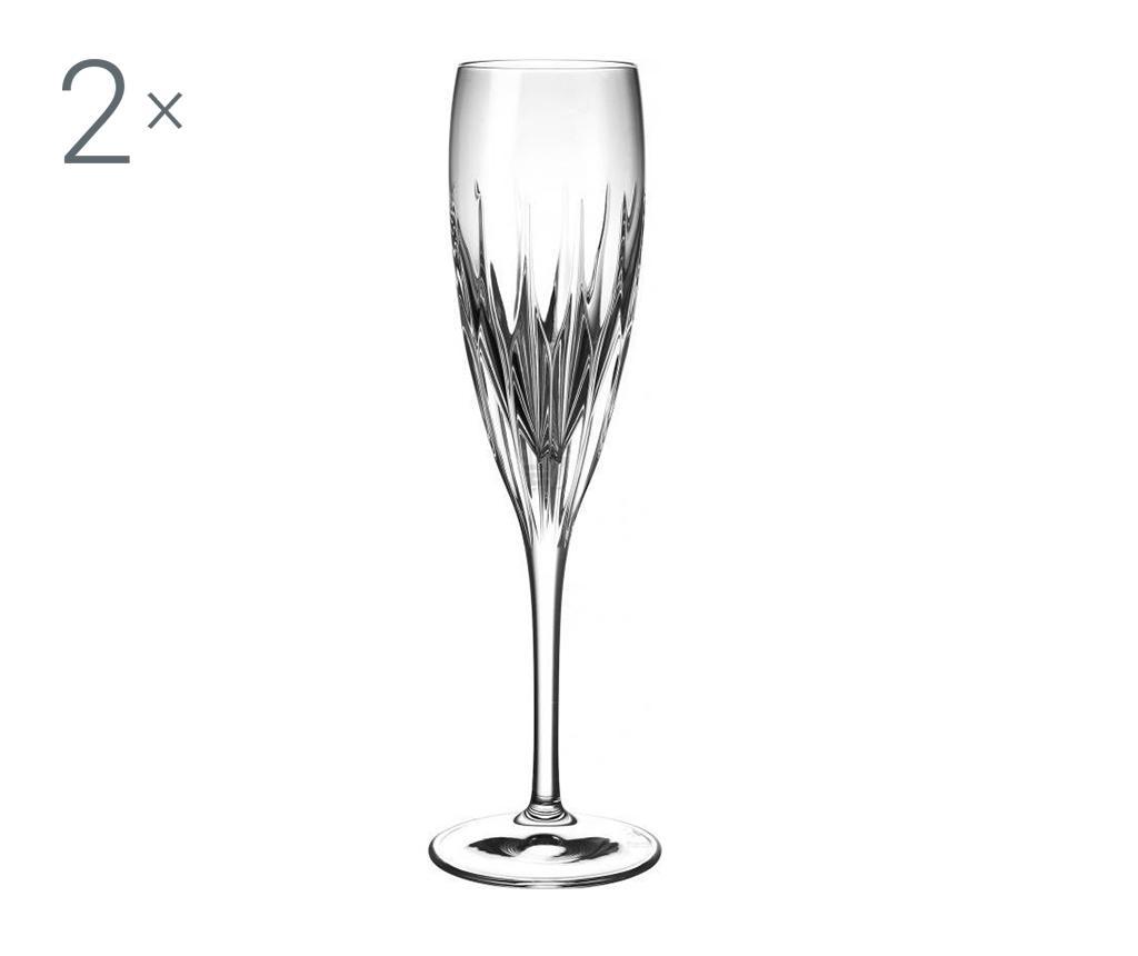 Sada 2 sklenic na šampaňské Prato 160 ml