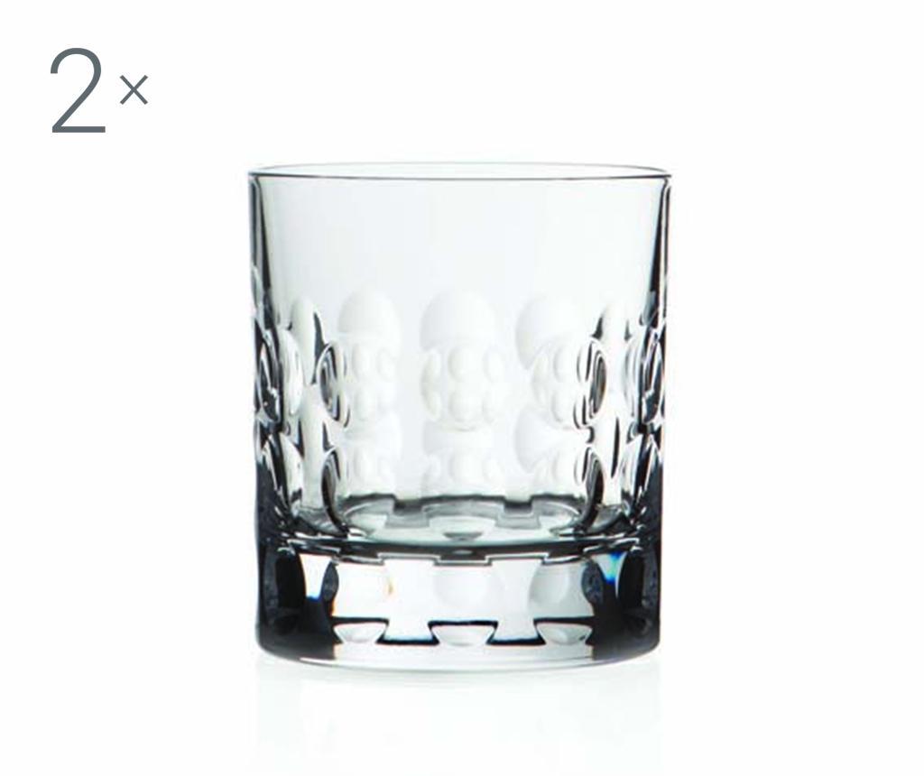 Set 2 pahare pentru whisky Bubble 290 ml imagine