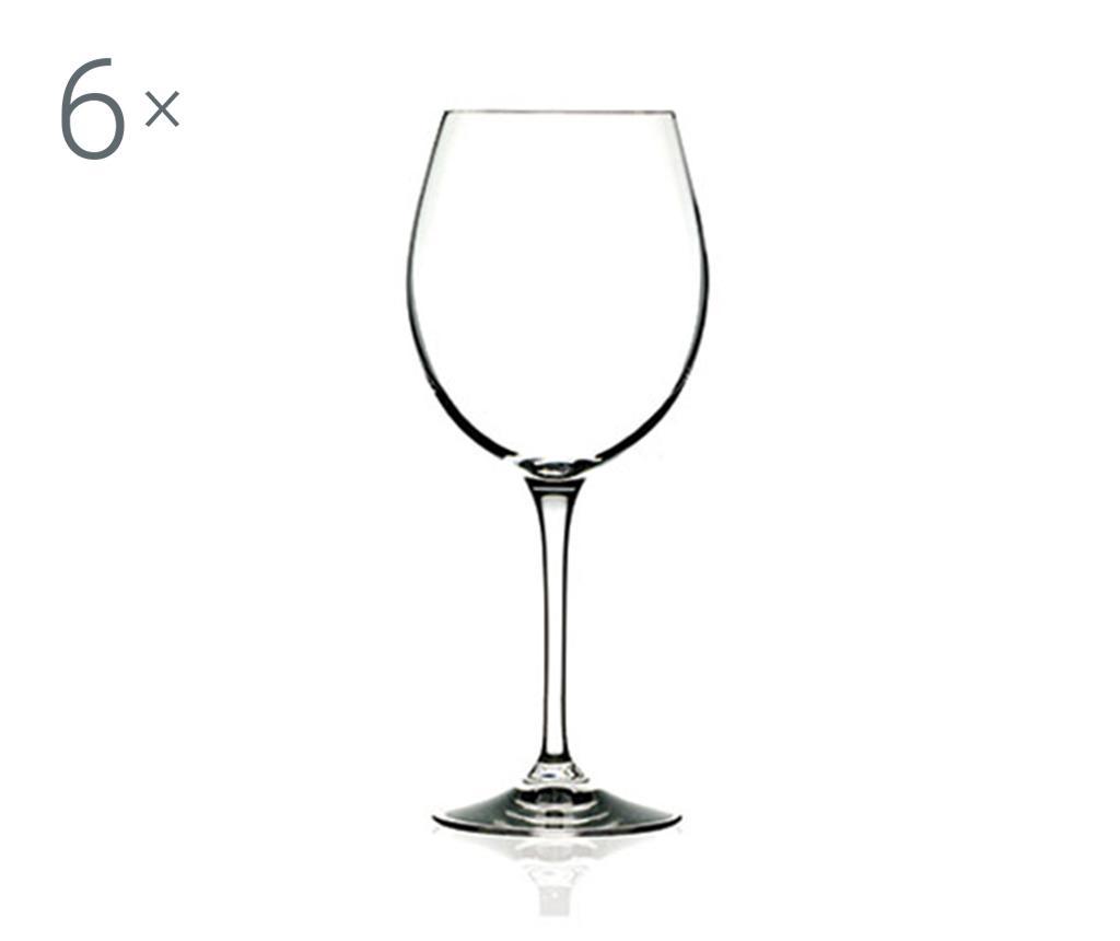 Set 6 pahare pentru vin rosu Invino 650 ml