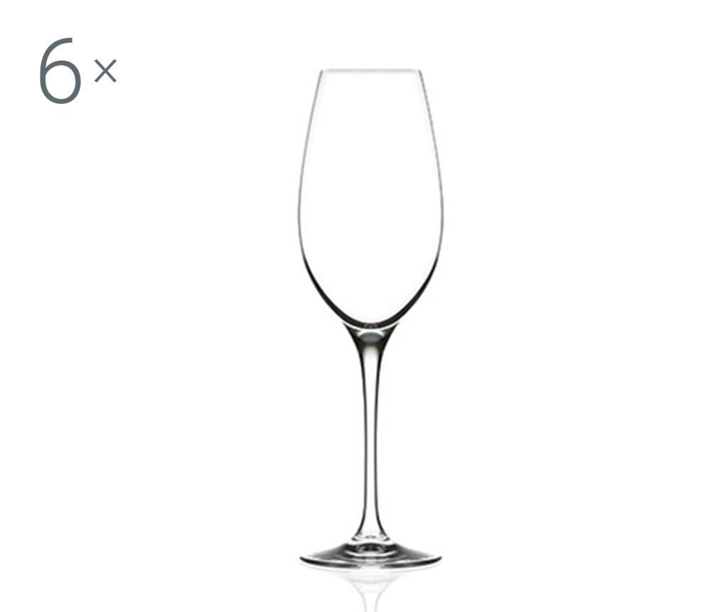 Set 6 pahare pentru sampanie Invino 290 ml - RCR Cristalleria Italiana, Alb imagine vivre.ro