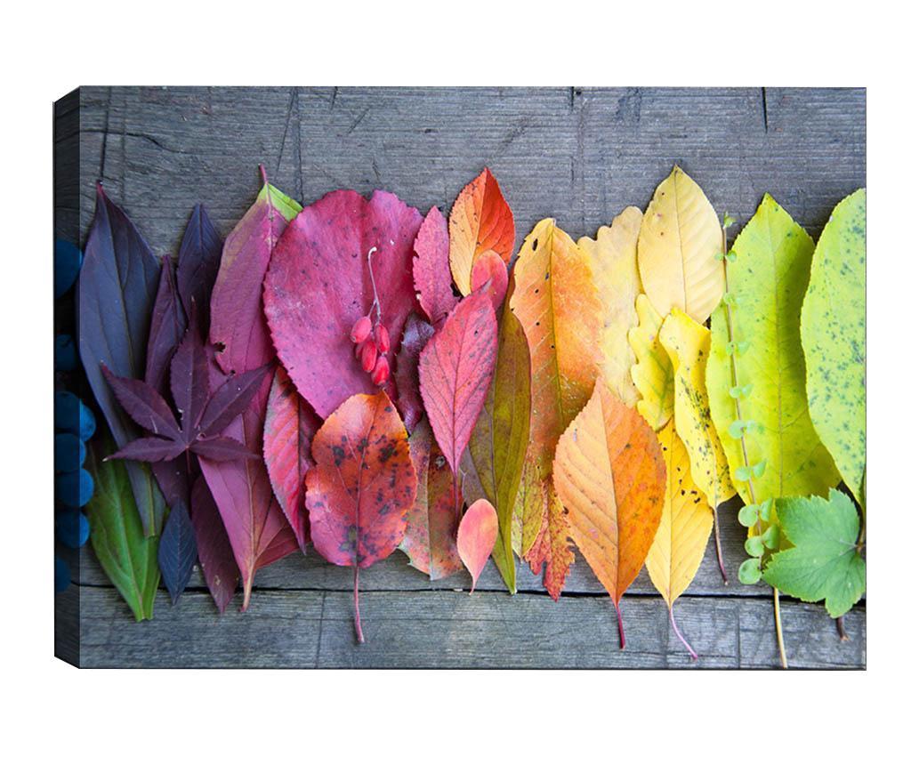 Tablou Gradient Leaves 50x70 cm