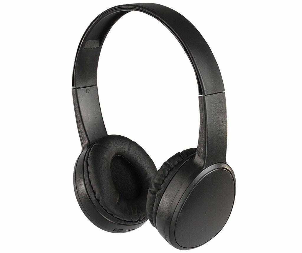 Casti Bluetooth wireless cu microfon Premium Black imagine