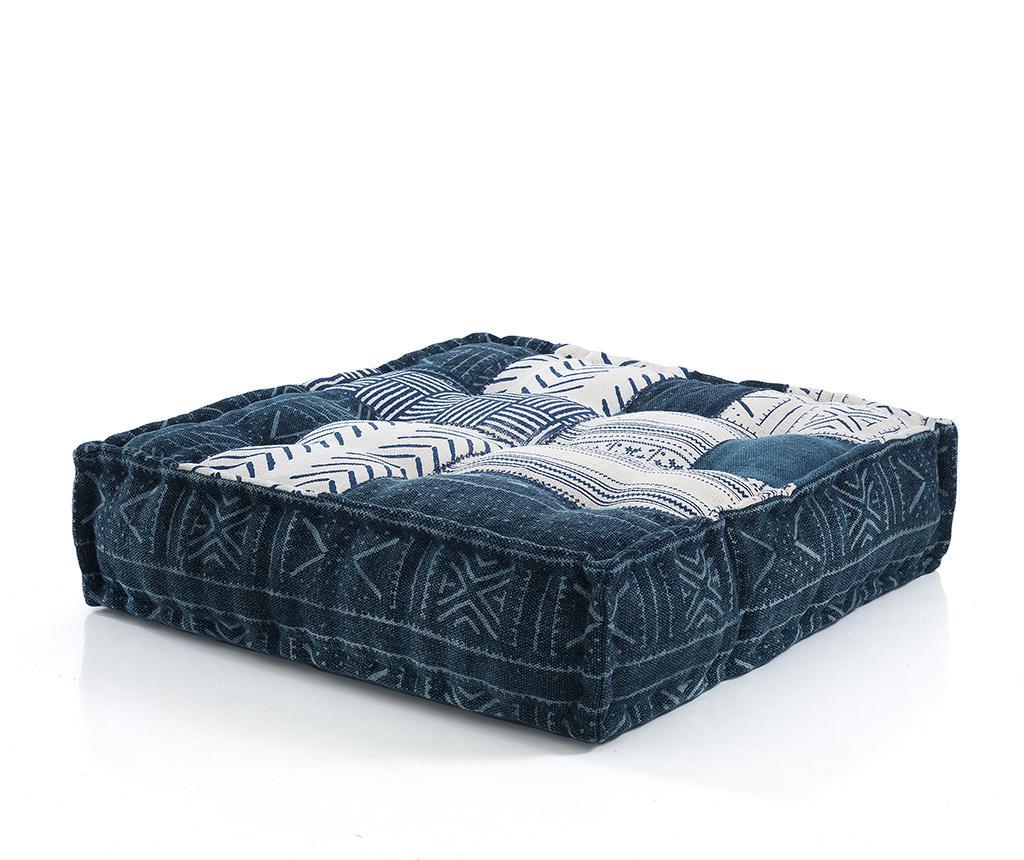 Perna de podea Yantra Blue Beige 80x80 cm - Oresteluchetta, Albastru imagine