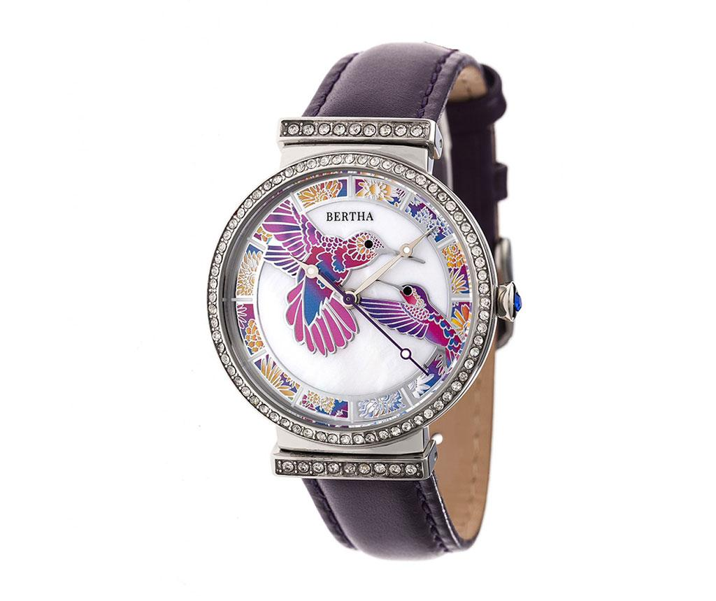 Ceas de mana dama Bertha Multicolor Hummingbird Purple