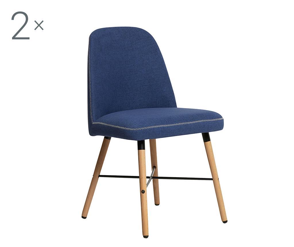Set 2 scaune Norah Blue - TopAmbientes, Albastru imagine