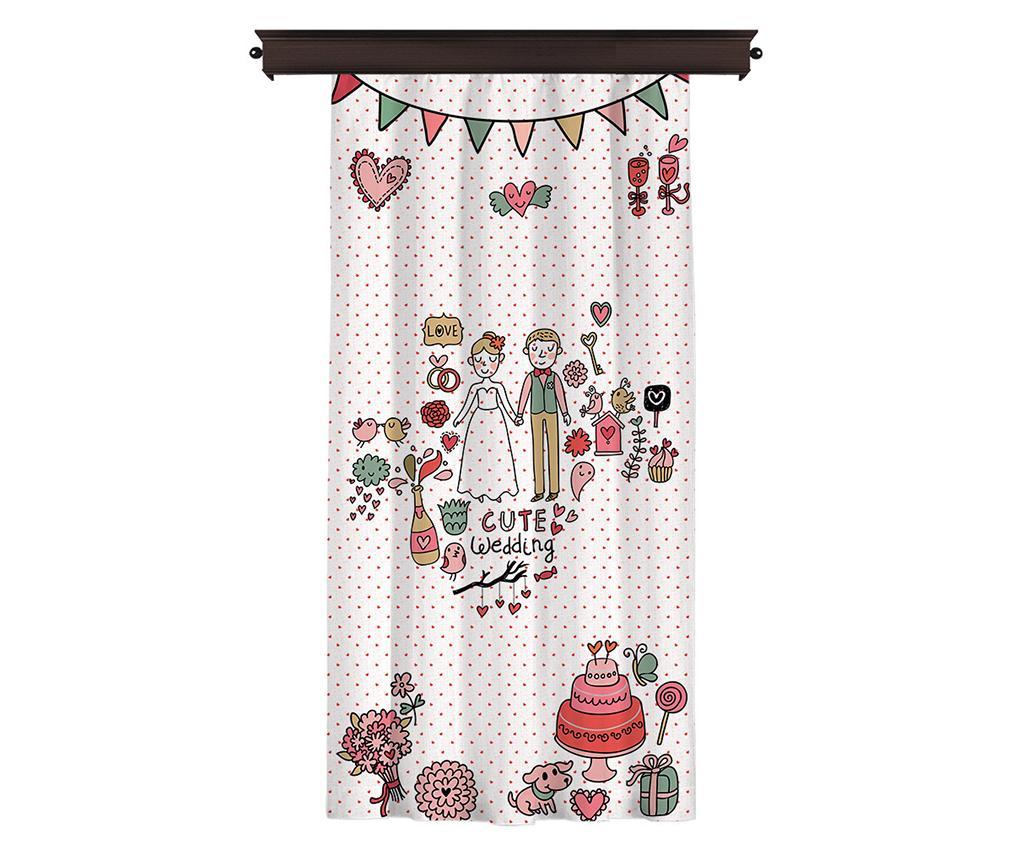Draperie Cute Wedding 140x260 cm - Cipcici, Alb imagine