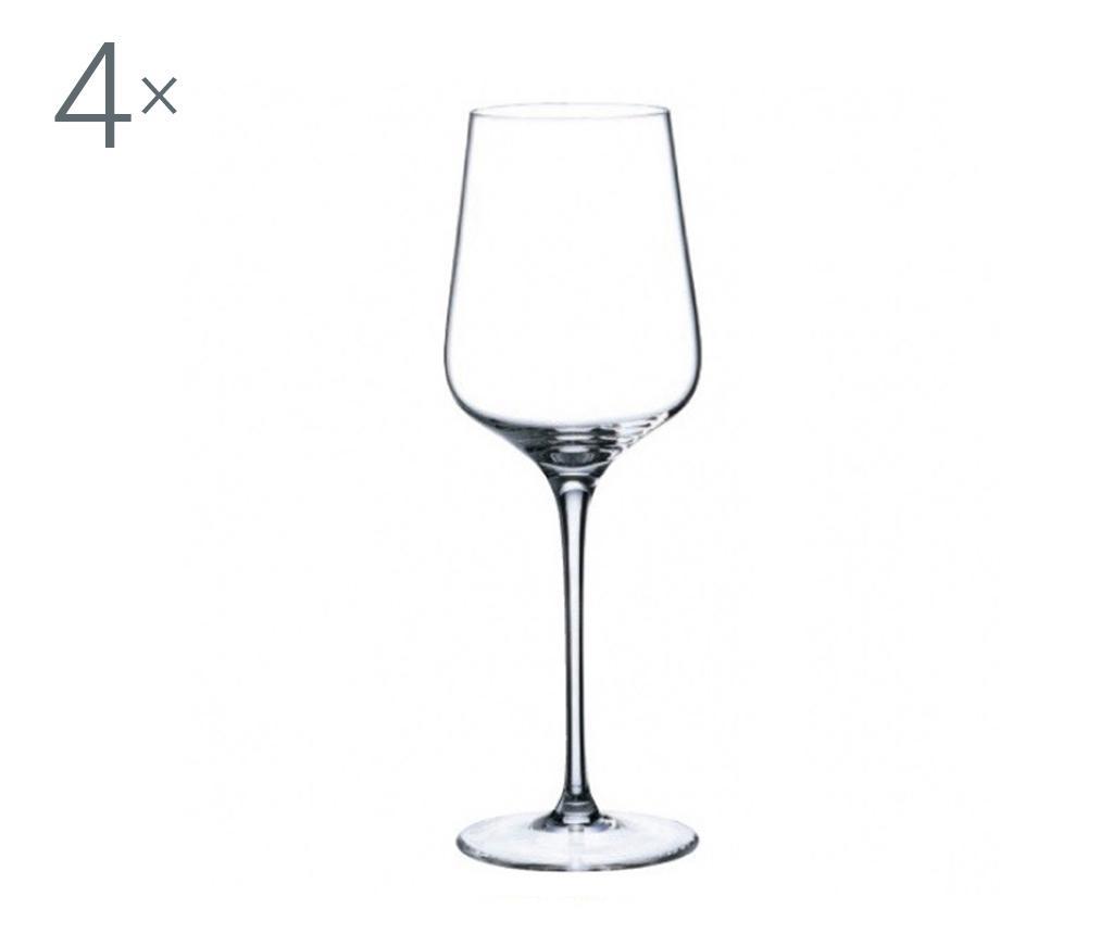 Set 4 pahare pentru vin Rona Charisma Crystalite 450 ml imagine