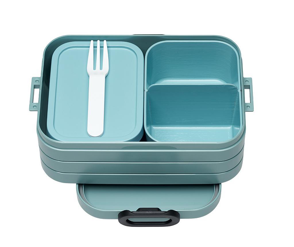 Dóza na oběd s 1 příborem Bento Green S