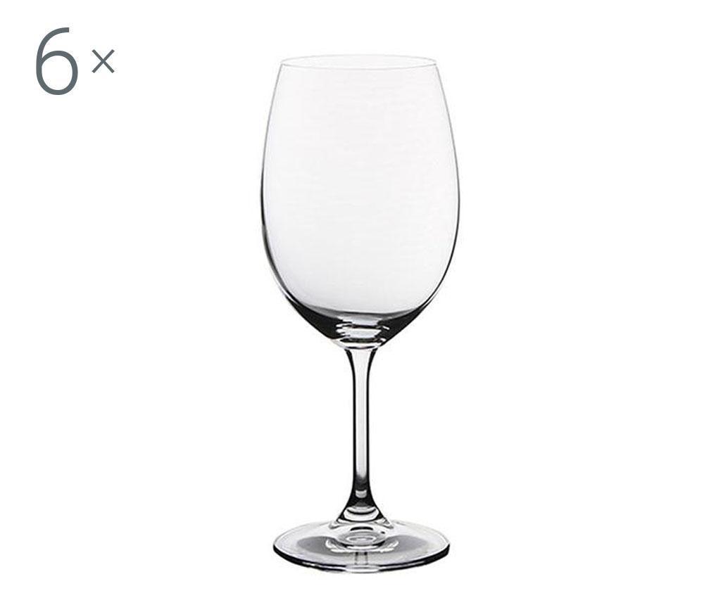 Set 6 pahare pentru vin Bohemia Royal Martina Crystalite 450 ml